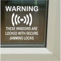 1 x Secure Jamming Locks Window Stickers-Sash Lock Security Warning Signs for House,Home,Flat,Business,Unit,Property-Self Adhesive Vinyl
