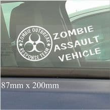 1 x Zombie Outbreak Assault Vehicle-200mm Window Sticker-Response Team-Car,Van,Truck,Self Adhesive Vinyl Sign