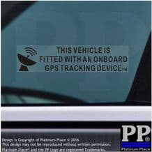 5 x On Board GPS Tracking Device Fitted Stickers-Car,Van,Boat,BLACK,Security Sign