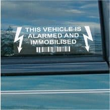 5 x Vehicle Alarmed and Immobiliser Security Warning Alarm Stickers,Car,Van,Truck