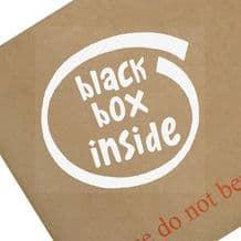 Black Box Inside-Car,Van,Truck,Vehicle,Sign,Notice,Warning,Safety,Speed,Limit,Fitted,Sticker,Bike