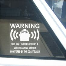 Boat GPS Tracker Security Device Alarm Stickers Window Warning Signs Speed Barge Yacht
