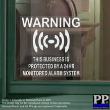 1 x Business Protected By a 24hr Monitored Alarm System-Security-CCTV-Home-Premises-Safety