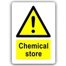 Chemical Store-Aluminium Metal Sign-150mmx100mm-Door,Notice,Safety,Science,Business,School,Health