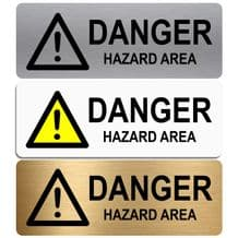 Danger Hazard Area-WITH IMAGE-Aluminium Metal Sign-Door,Notice,Shop,Office,Business,Secure,Safety