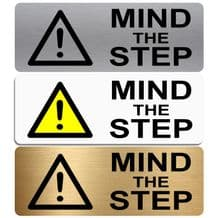 Mind The Step-WITH IMAGE-Aluminium Metal Sign-Door,Notice,Shop,Office,Secure