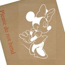 Minnie Mouse Standing-Car Window Sticker White-Vinyl,Bumper,Child,Kids,Minny Head