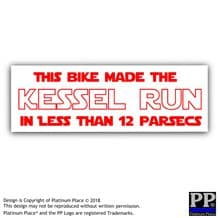 This Bike Made the Kessel Run Less Than 12 Parsecs-Motorbike,Motorcycle,Sticker,Sign,Falcon Makes