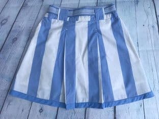Joules baby blue and white skirt age 7 (fits 6-7)