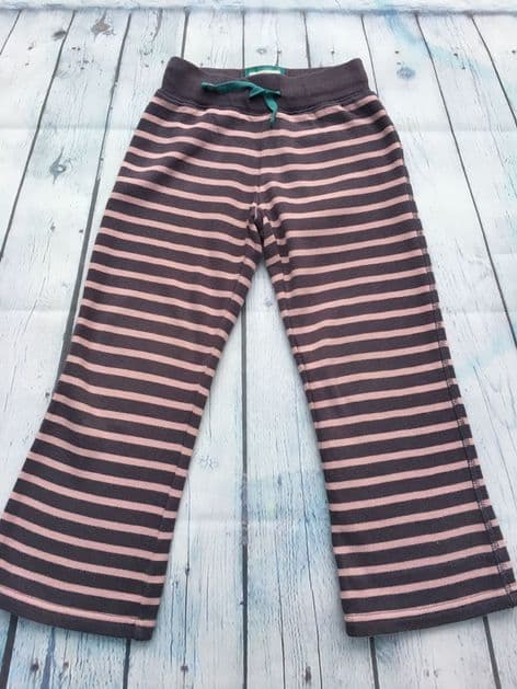 Mini Boden pink striped joggers age 5 (fits age 4-5)