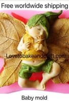 Baby mold, Elf mold, Pixie mold, Fondant FAiry,  Free worldwide shipping. (1)