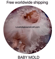 Baby  mold, OOAK baby, baby mould, baby mold, fimo  baby, sculpey baby, Free worldwide shipping.