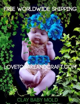 Baby mold, OOAK baby. Fimo  baby, sculpey baby, Free worldwide shipping. (1) (2)