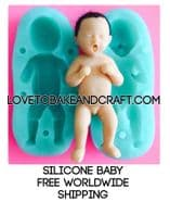Baby mold, Silicone baby mold, Gumpaste baby, Doll mould, free shipping