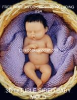 Baby sculpt, OOAK baby, fimo baby, sculpey baby, clay baby, baby mould, Free worldwide  shipping