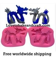 Dragon mold, Dragon mould, Chinese dragon, Dragon cake, cake mold, free worldwide shipping