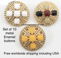 Enamel jacket buttons,  Ceramic metal buttons. Free worldwide shipping (2) (3) (4) (5) (6) (7) (8)