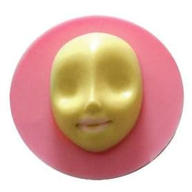 Face mold, silicone face mold, Silicone face mould, face mould, ooak, ooak fairy, ooak baby, ooak polymer, fimo, sculpey, Free shipping