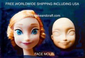 Face molds, silicone face moulds, fondant face, Gumpaste face, fondant face mold, gumpaste face molds. Free shipping