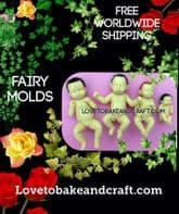 Fairy mold, Fairy mould, Polymer fairy mold, Set of 4 Fairy molds, Free worldwide shipping (1)