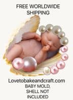 Fimo baby mold, polymer baby mold, OOAK baby, fimo baby, sculpey baby, clay baby, baby mould, Free worldwide  shipping (1)