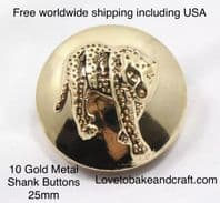 Leopard buttons, Tiger buttons, Lion buttons, Free worldwide shipping including USA