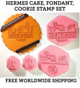 Logo cutters, Hermes cake stamp, Hermes  cookie stamp, Hermes  cookie cutter, Hermes Shoe, Hermes cake, logo Embossers , Free worldwide shipping (1)