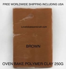 Oven bake polymer clay, Brown, Flesh, figurine clay,  Free worldwide shipping (1)
