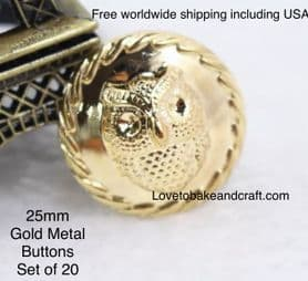 Owl buttons, Gold owl buttons, Owl jacket buttons, Free worldwide shipping