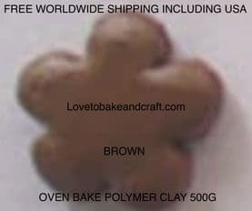 Polymer clay.  500g. Oven bake polymer clay, Brown, Flesh, figurine clay,  Free worldwide shipping