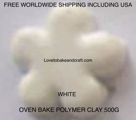 Polymer clay.  500g. Oven bake polymer clay, White, figurine clay,  Free worldwide shipping