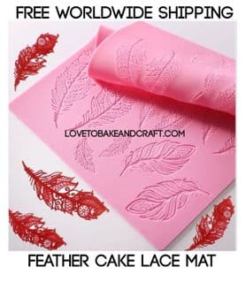 Silicone lace mat, feather mold, feather lace mat, sugar lace mat, silicone farther mat, Free worldwide shipping