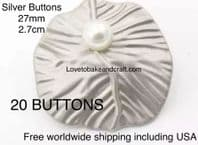 Silver Pearl buttons. Pearl buttons. Free worldwide shipping (2) (3) (4) (5) (7) (8) (9) (10)