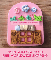Window mold, fairy house, fairy mold, window mould, fairy silicone mold, free worldwide shipping