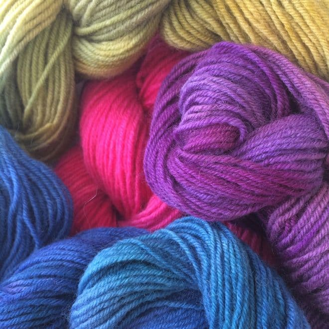 Hand Dyed Botany Wool 40gms
