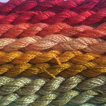 Hand Dyed Fine Silk 10metres