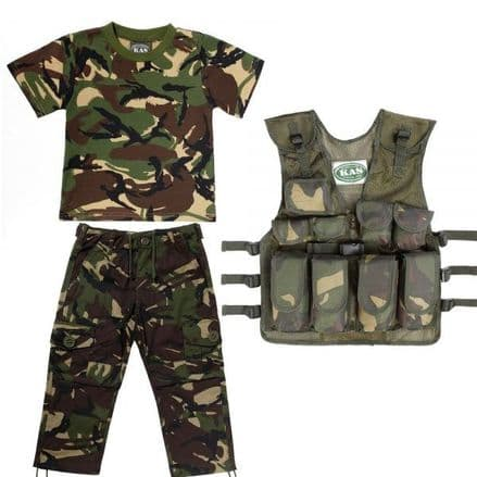 Kids Army Camouflage No 1 Combo
