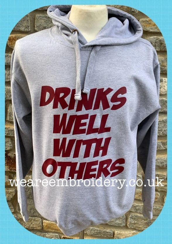 Drinks Well With Others Hoodie - Medium
