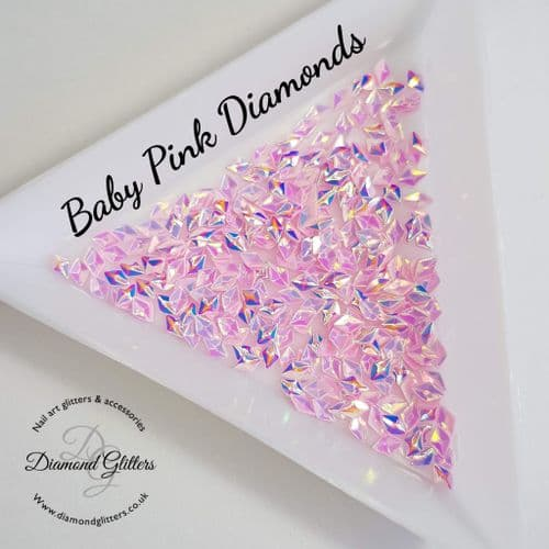 3D Nail Jewels - Baby Pink Diamonds 3g Bag