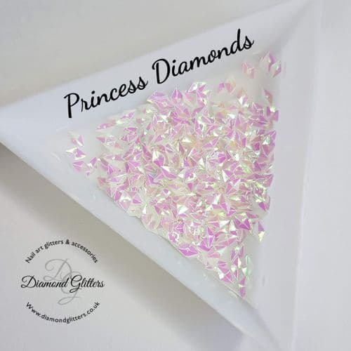 3d Nail Jewels Princess Diamonds - 3g Bag