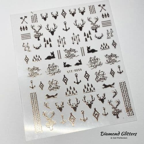 Rose Gold Stag Stickers