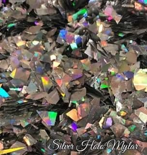 Silver Holographic Mylar - 5ml