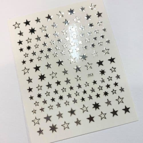 Star Stickers - Silver