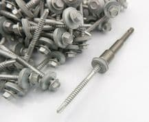 (Pack OF 100) 5.5 x 43mm Tech Screws for roofing & cladding self drill tek screw