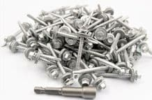 (Pack OF 200) 5.5 x 57mm Tech Screws for roofing & cladding self drill tek screw