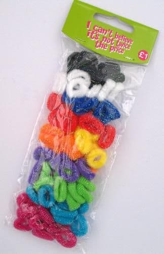 12 Cards - 80 Pack of Girl's Hair Bobbles Bands Mini Baby Ponytail Elastic Stretchy Hair bands