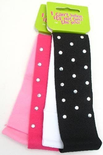 4 Hair Bands Bandeaus Mixed Colours (2 cards)