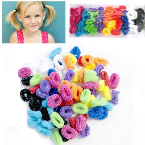 80 Pack of Girl's Hair Bobbles Bands Mini Baby Ponytail Elastic Stretchy Hair bands