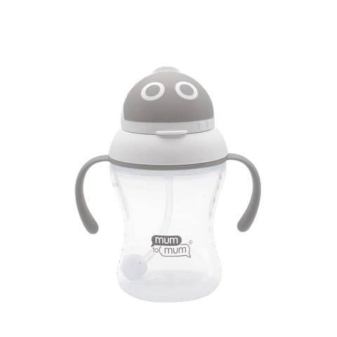 Mum to Mum - Space Robot PP Straw Cup with Handle 240ml/8oz - 6M
