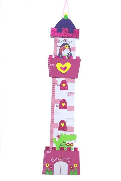 Toddler Height Chart up to 150cm (Pink Princess)